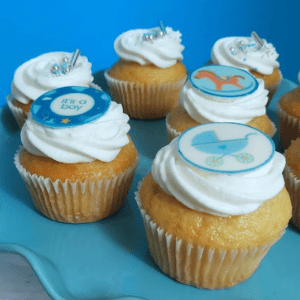 Baby Boy cupcakes box