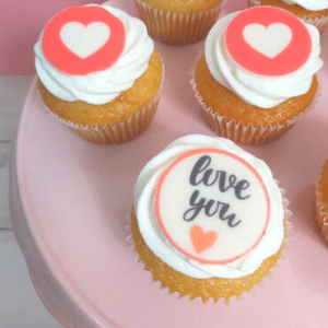 I love you cupcakes box