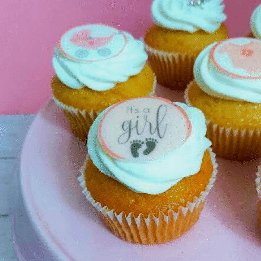 Baby Girl cupcakes box
