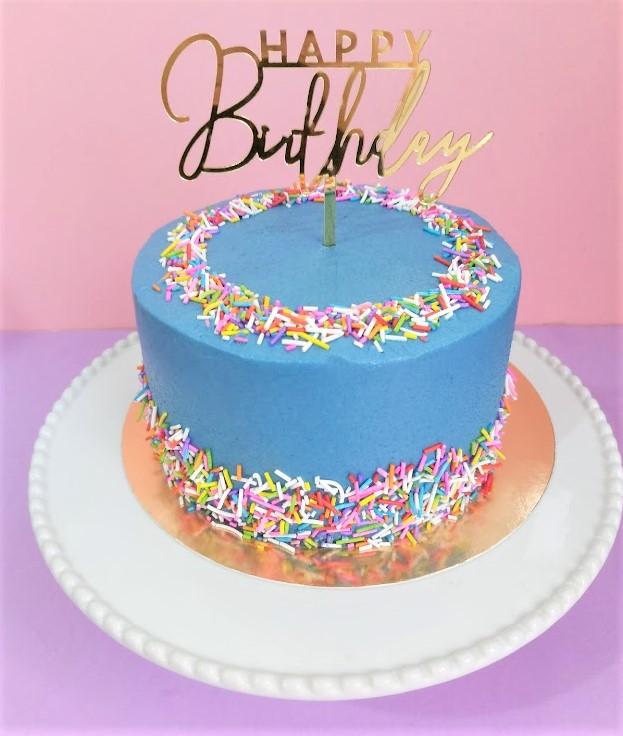Blue sprinkles cake