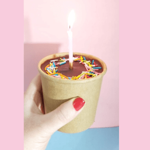 Birthday cake in a cup