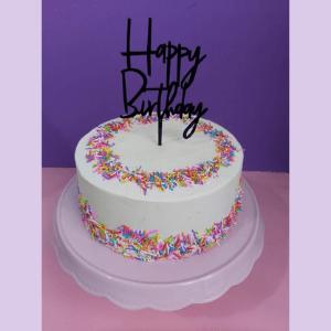 white sprinkles cake