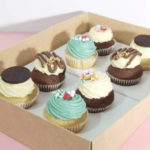 Eight cupcakes box